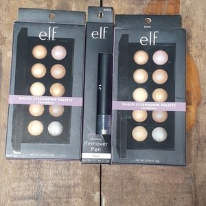 NEW ELF Baked Eyeshadow Pallets & Remover Pen
